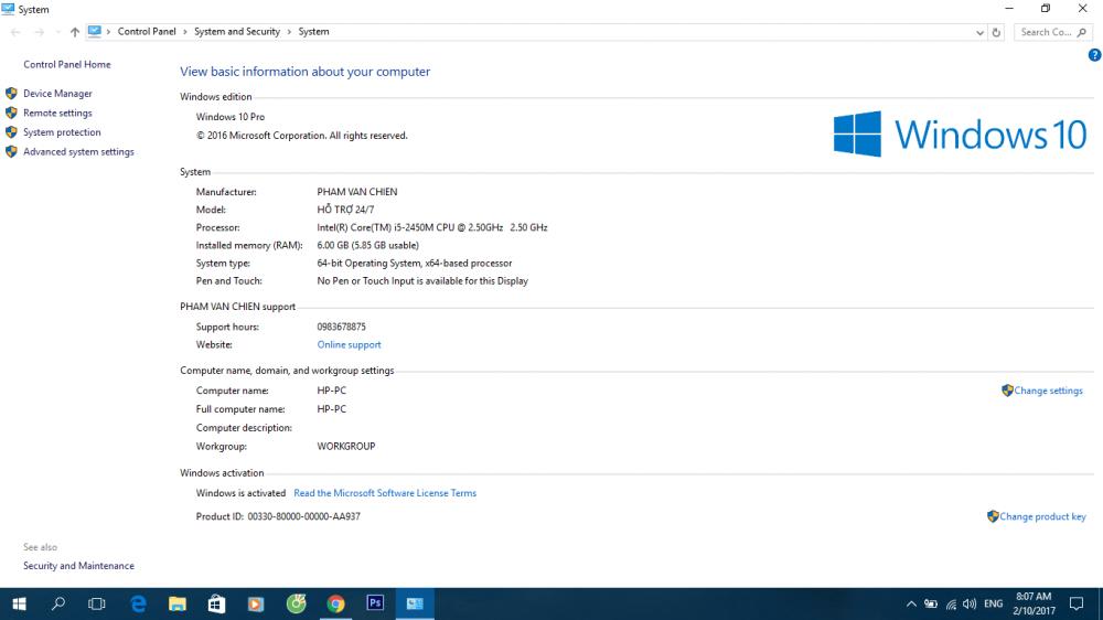 Hướng dẫn bạn đọc cách kích hoạt bản quyền phiên bảnWindows 10 Pro Build 1607.