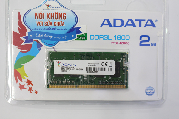 Ram Notebook Adata 2GB DDR3L 1600Mhz