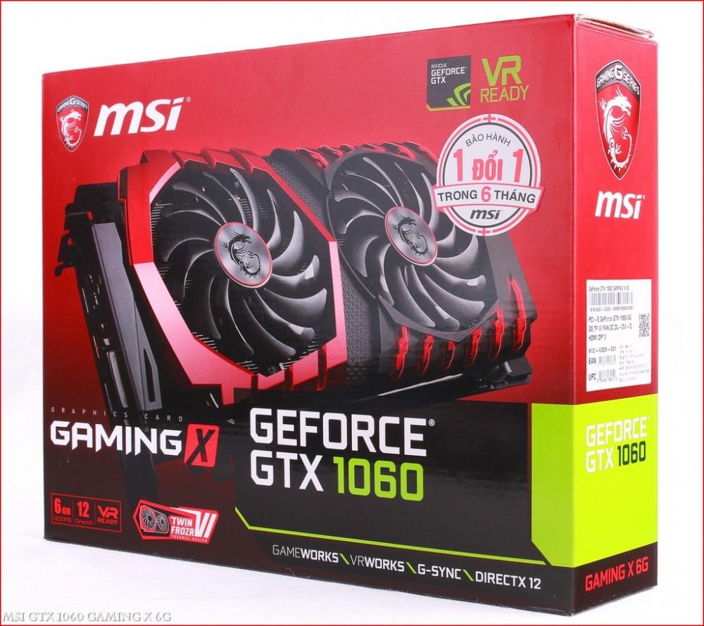 Vga MSI GTX 1060 GAMING X 3G