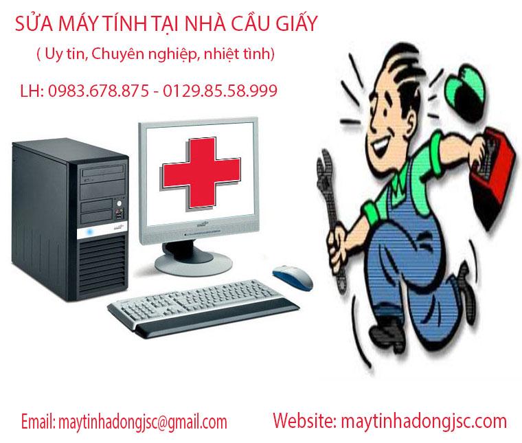 Sửa máy tính tại nhà Cầu Giấy, Hà Nội uy tín, chất lượng 0983.678.875