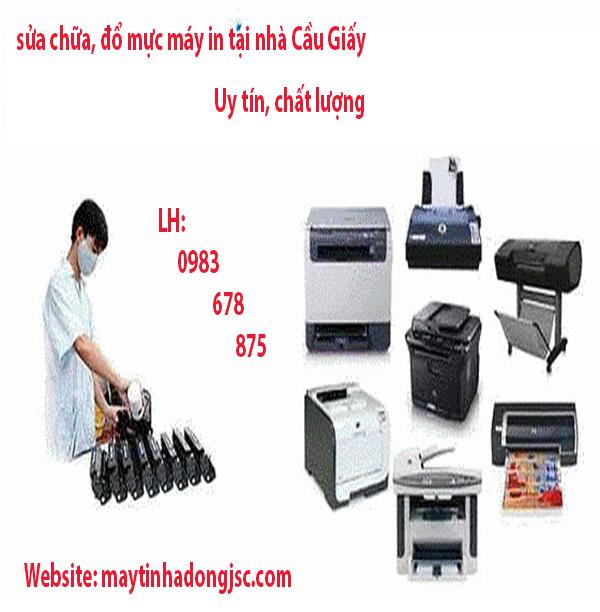 sửa máy in tại nhà Cầu Giấy - Hà Nội chuyên nghiệp, chất lượng 0983.678.875